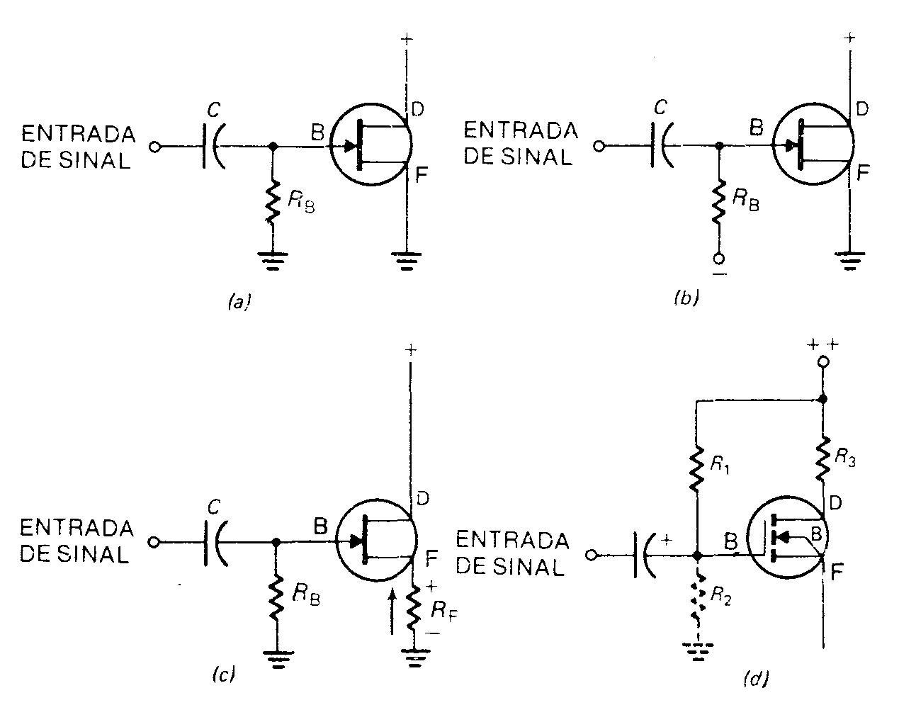 Conhecendo componentes eletronicos Polarizacao-circuitos