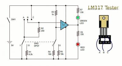 Circuito Testador LM317