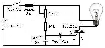 Circuito de Dimmer para LEDs