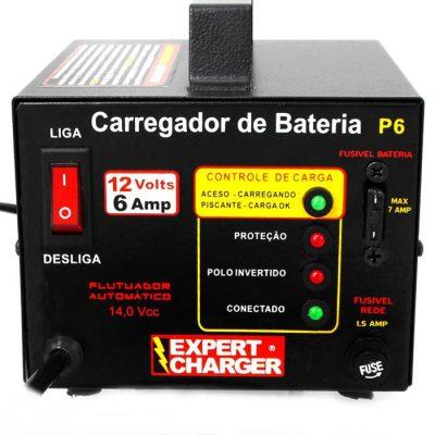 Carregador Automático de Bateria 12v